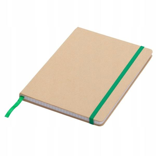Notatnik 145x210/80k kratka Lisboa, zielony/beżowy