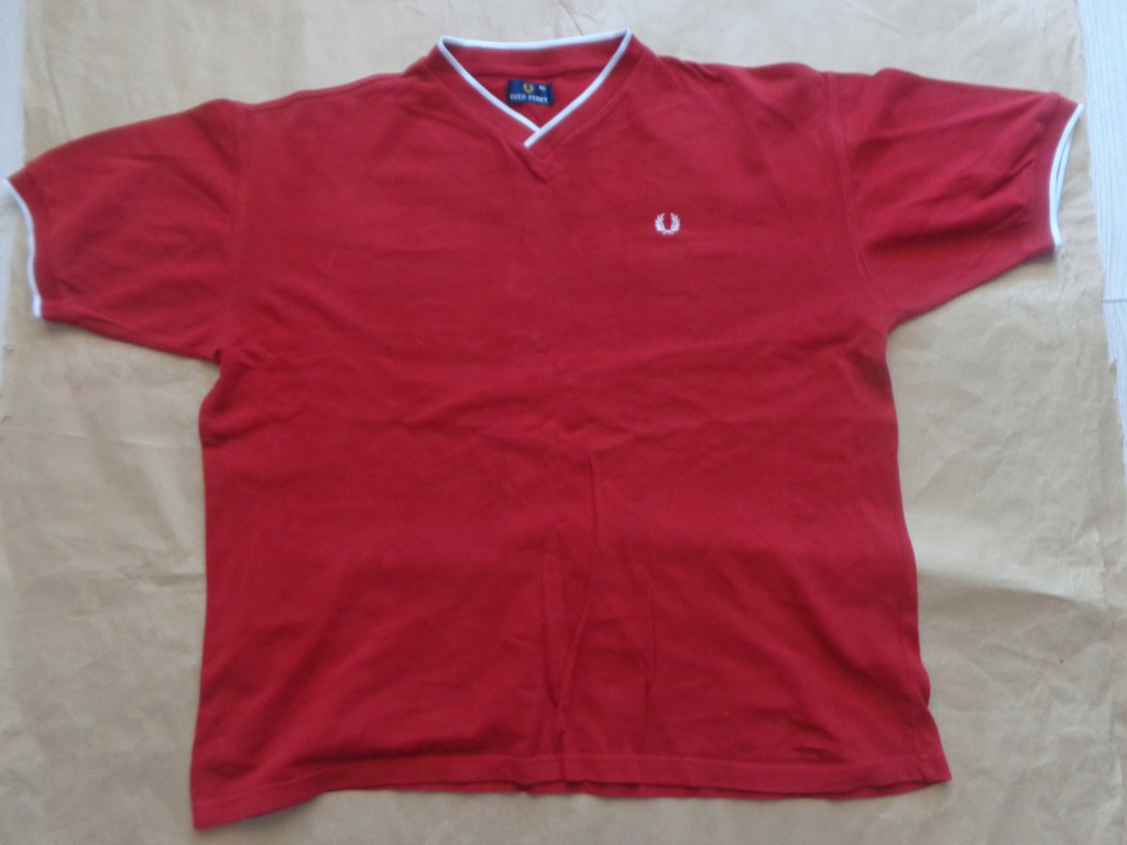 FRED PERRY RED. JERSEY ORIGINAL XXLARGE