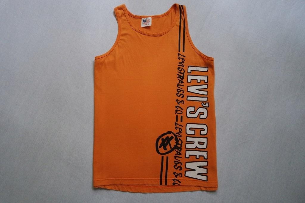 LEVI'S koszulka bokserka pomarańczowa logo____L/XL