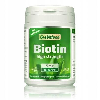 Biotyna, 5 mg, 180 tabletek, vegan-witamina piękna