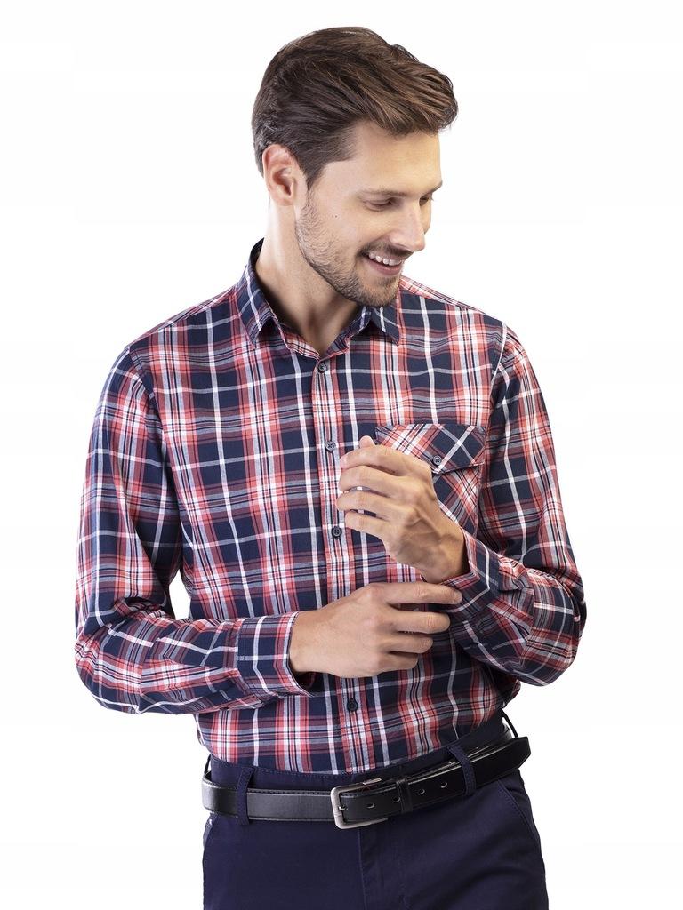 TXM Koszula męska z długim rękawem M CZERWONY