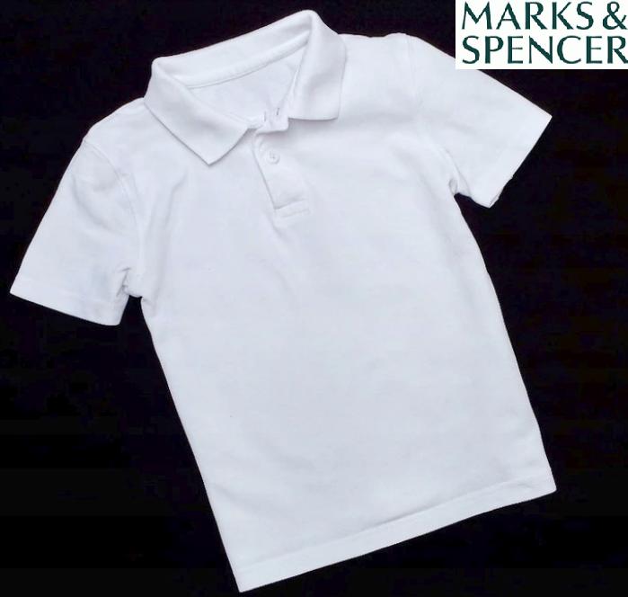 M&S biała koszula polo rozmiar 134 140