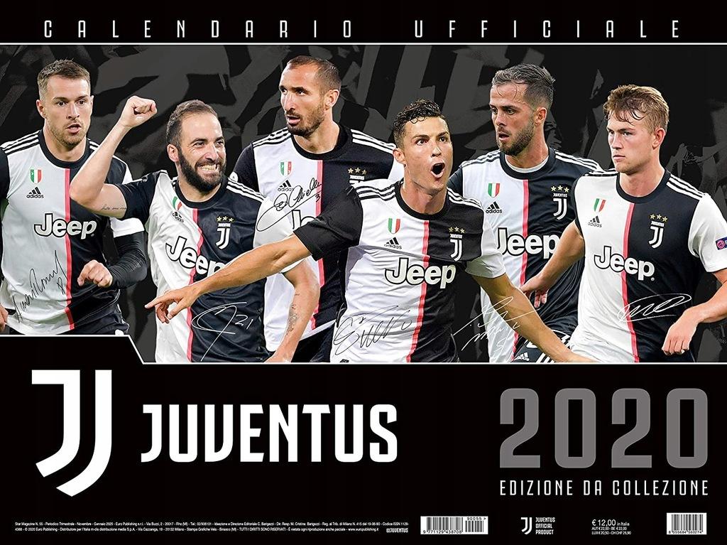 JUVENTUS FC OFICJALNY KALENDARZ 2020 44x33 cm opis