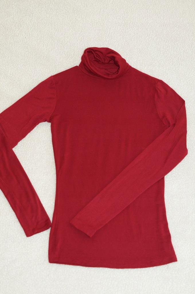 RESERVED golfik golf bluzka czerwone wino 36 S