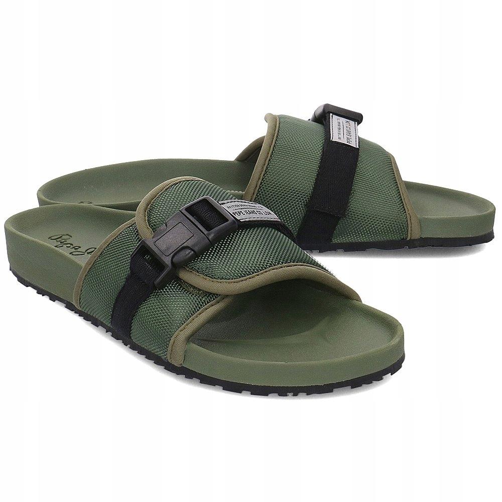 Pepe Jeans Ultra Bio Zielone Klapki Męskie R.43