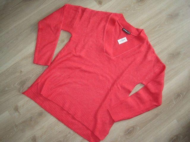 Janina nowy koralowy sweter 36 S