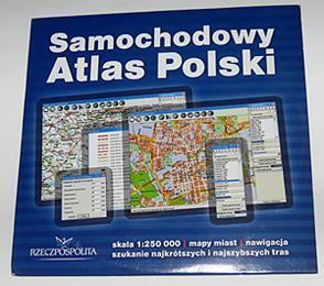 SAMOCHODOWY ATLAS POLSKI - płyta CD