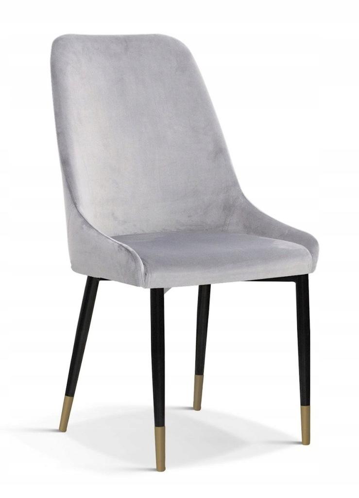 Krzesło OLIVIER M srebrny/ noga czarno-złota/ BL03