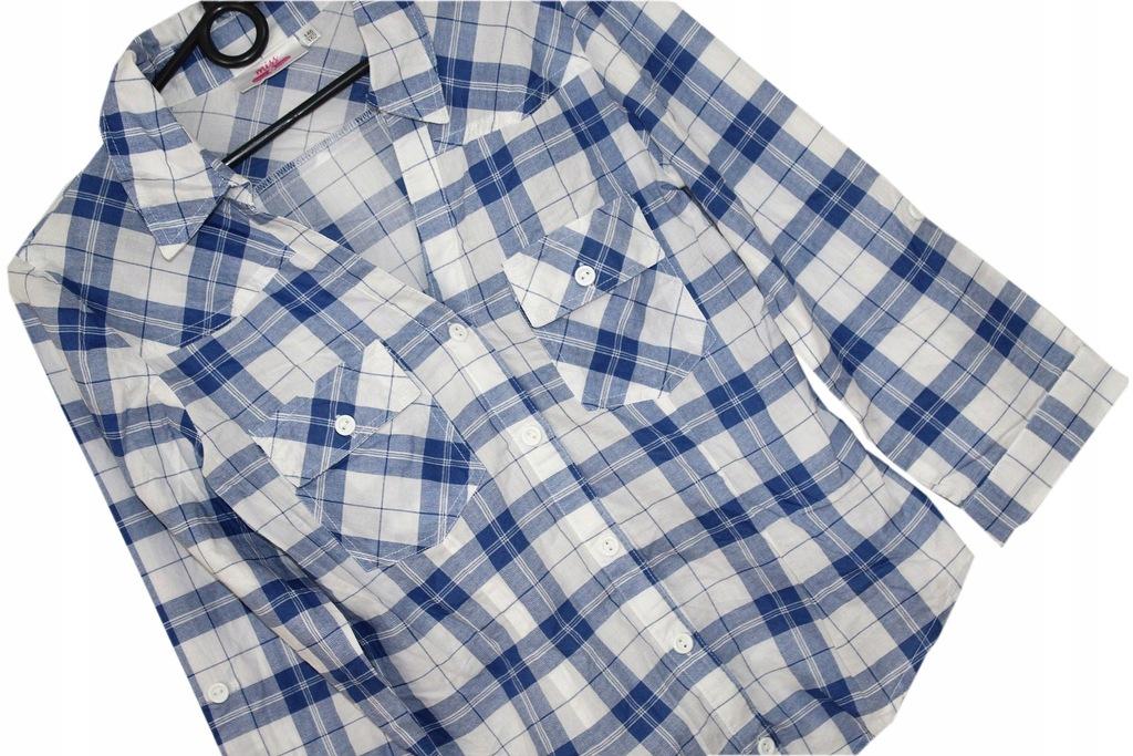 b4_C&A_Modna Dziewczęca Koszula Krata__146/152