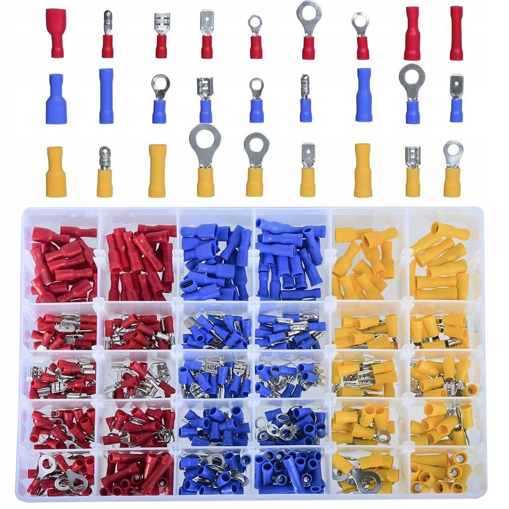 480 sztuk Zaciski pierścieniowe Złącza drutowe Złą