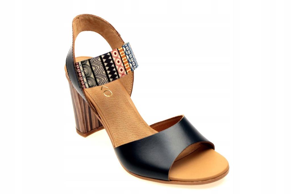 Sandały Ryłko 9HH81T4 37 Granatowe