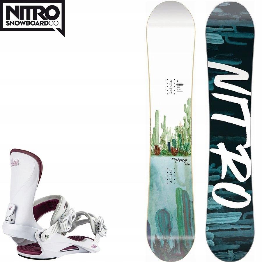 Snowboard NITRO Mercy 100% FS + wiązania z 2950PLN