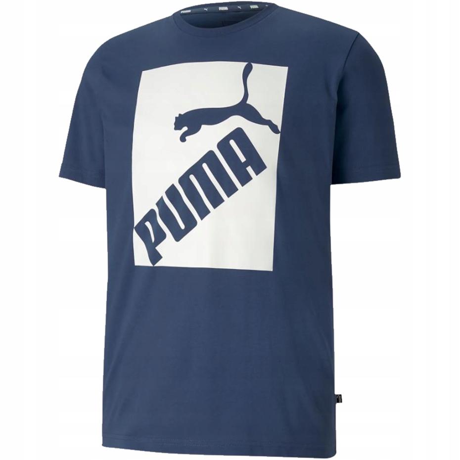 Koszulka męska Puma Big Logo Tee niebieska 581386