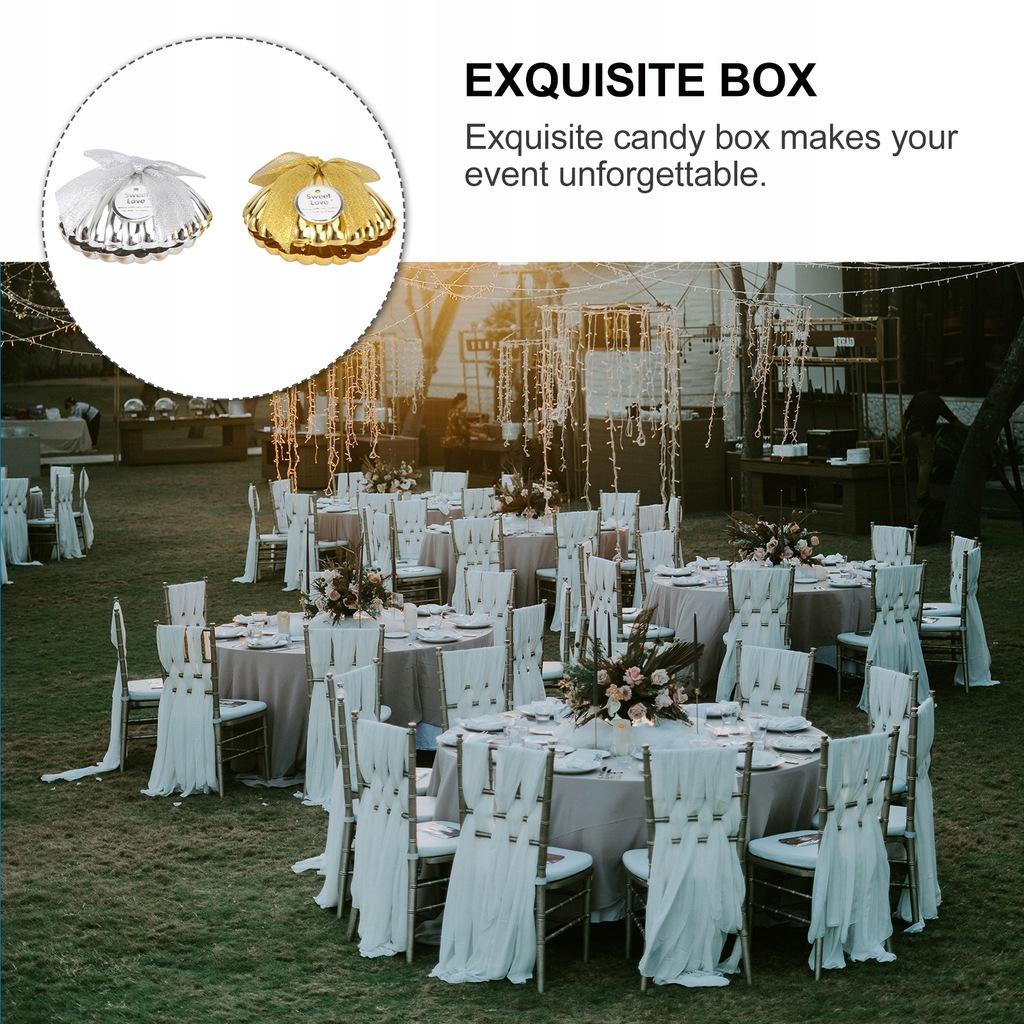 10 SZTUK Kreatywne pudełko cukierków ślubnych Deli