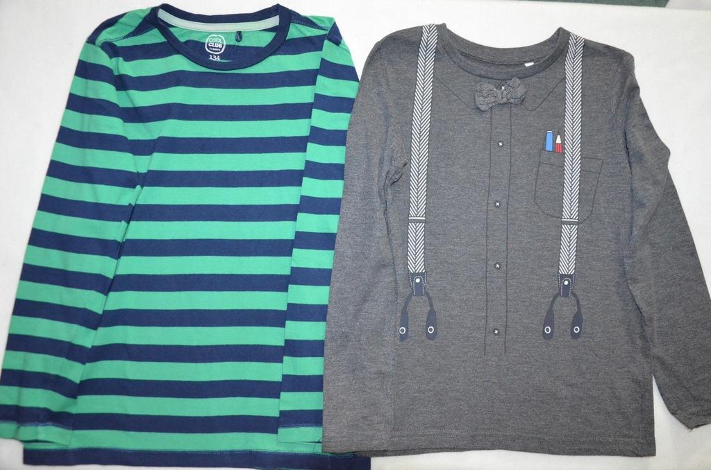 Bluzki dla chłopca x2, roz 128/134