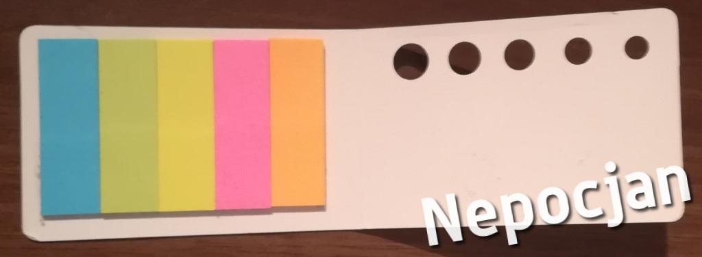 Karteczki samoprzylepne małe różne kolory