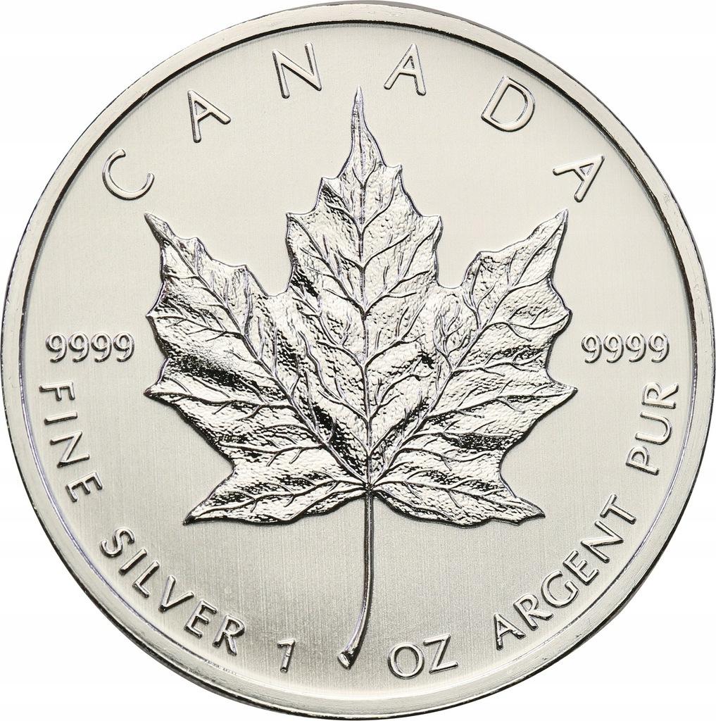 Kanada 5 dolarów listek SREBRO 1 uncja