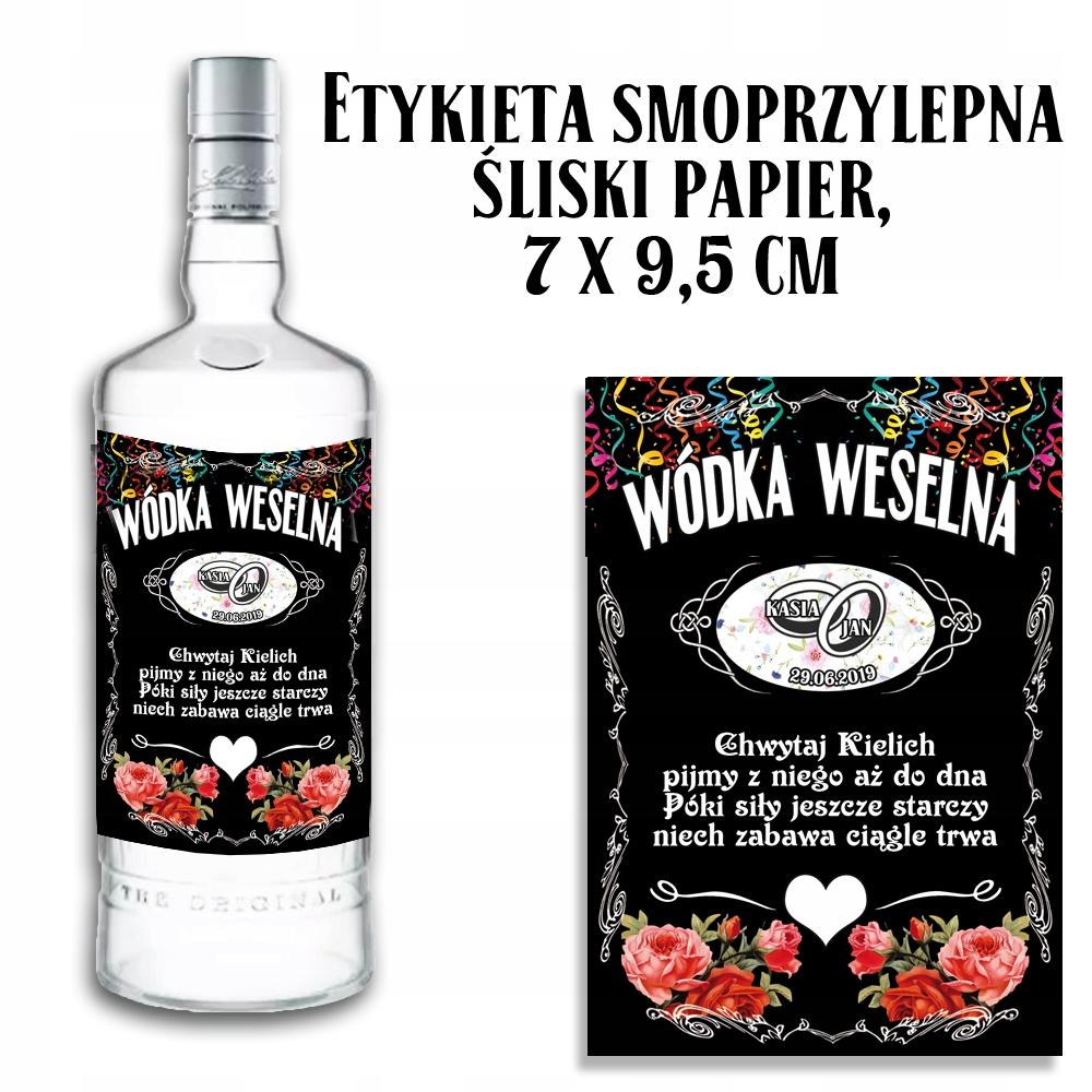 Etykieta Personalizowana Na Wodke Weselna Bimber 8539497578