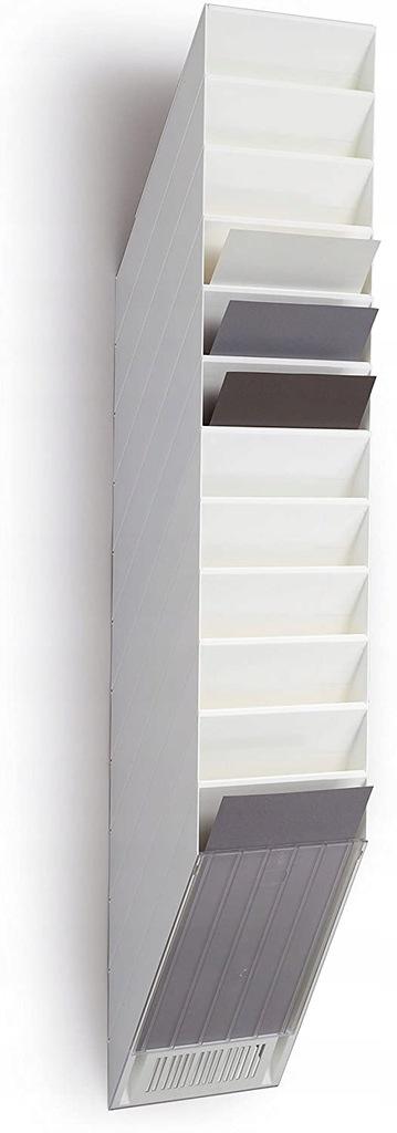 Stojak na czasopisma 12 A4 pionowy biały Durable