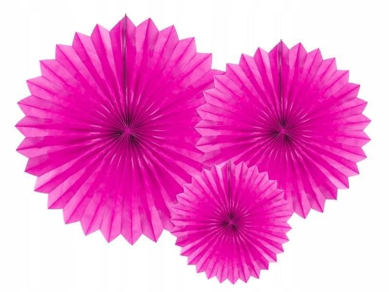 Rozety dekoracyjne c. różowy 20-40cm, 150 szt.