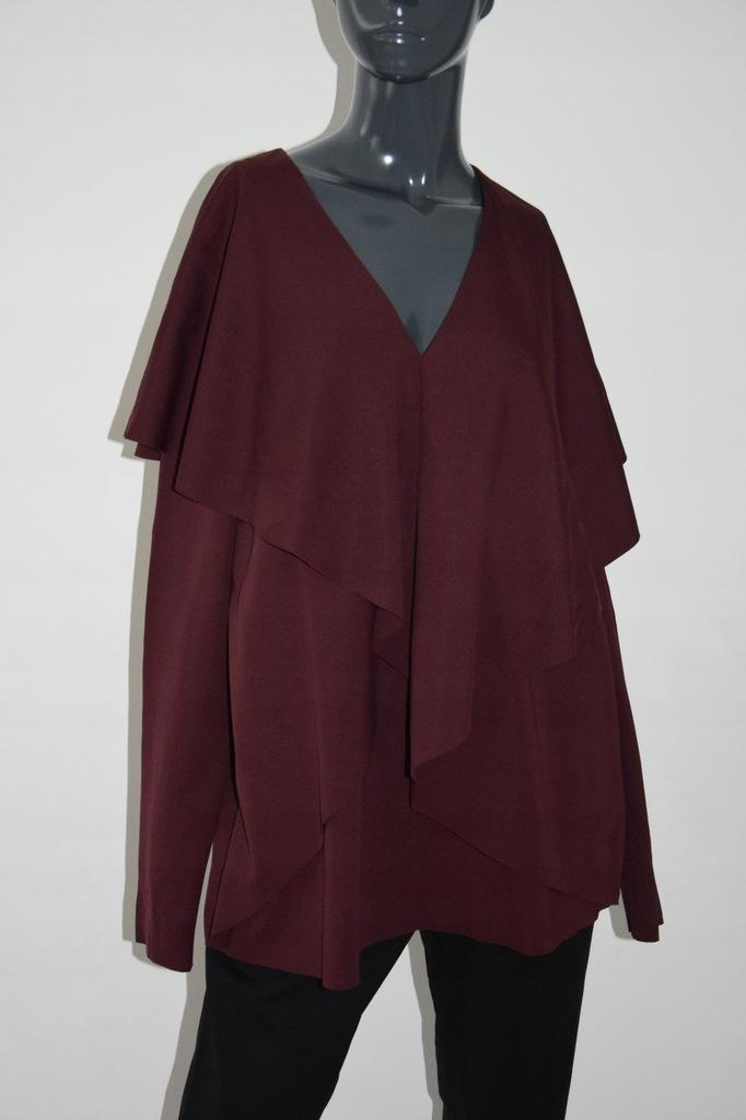 cos bordowa bluzka surowe wykończenia 40/L