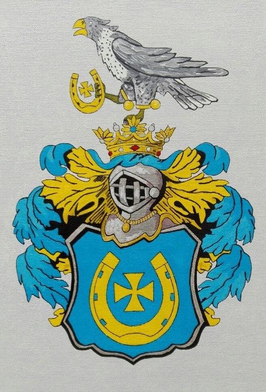HERB SZLACHECKI JASTRZĘBIEC , 21 x 30 cm ( wzór )
