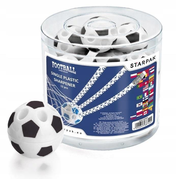 Temperówka plastikowa pojedyncza Football (12szt)