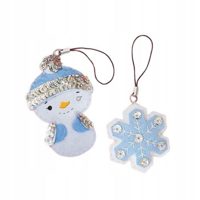 Zabawki noworoczne breloki wykonane z filcu