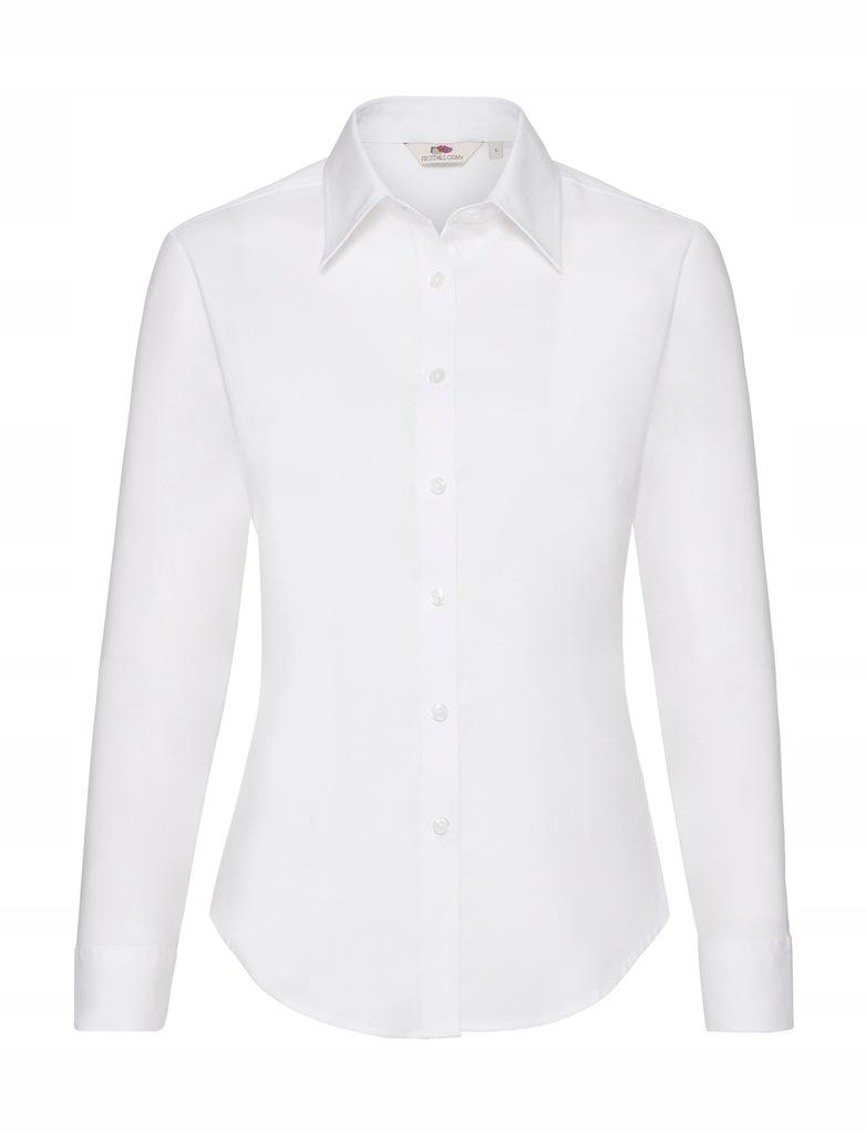 Damska koszula z długim rękawem White M 65-002-0