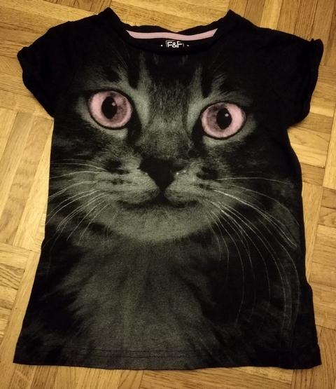 Koszulka F&F oczy kota rozm. 116