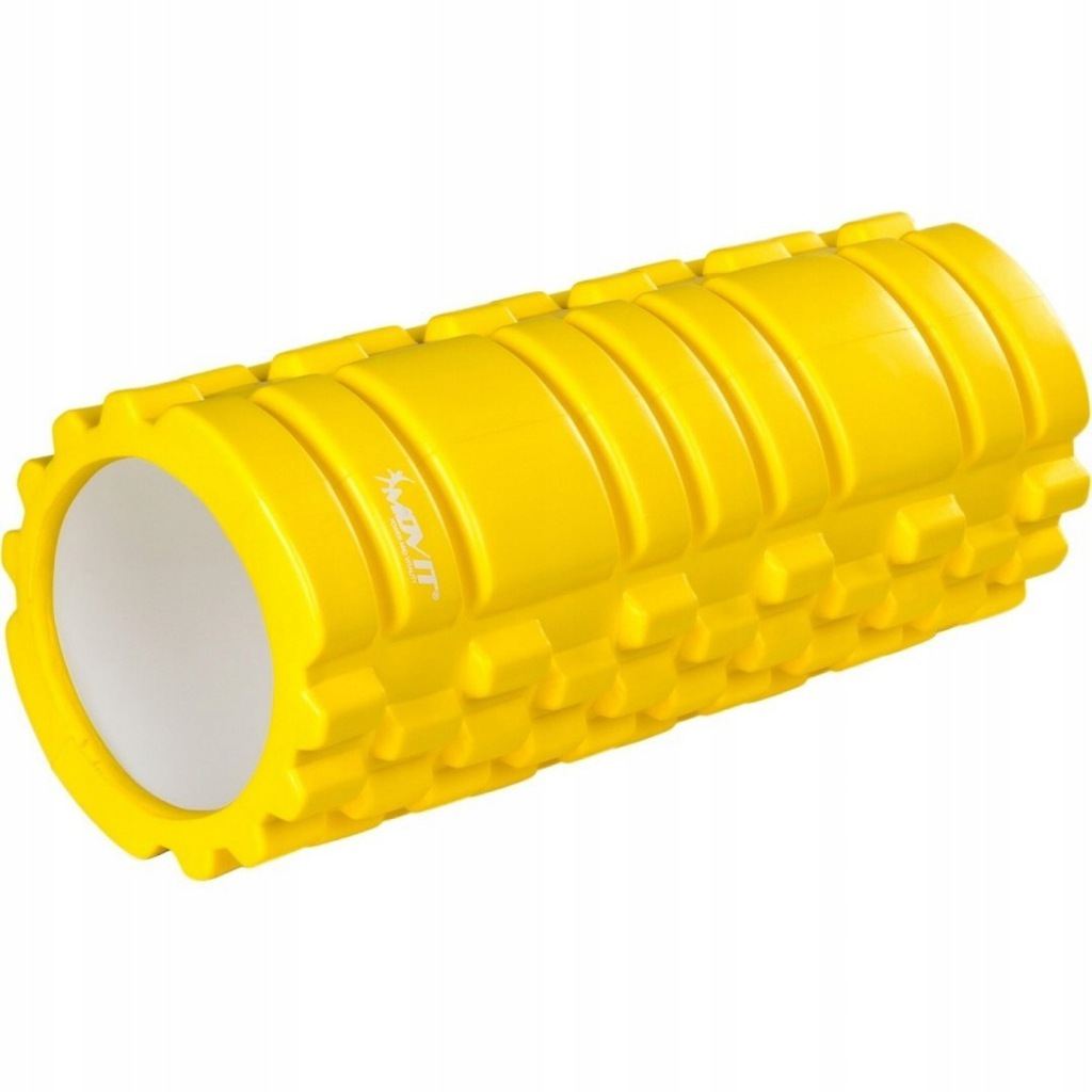Wałek do masażu MOVIT 33 x 14 cm, żółty roller