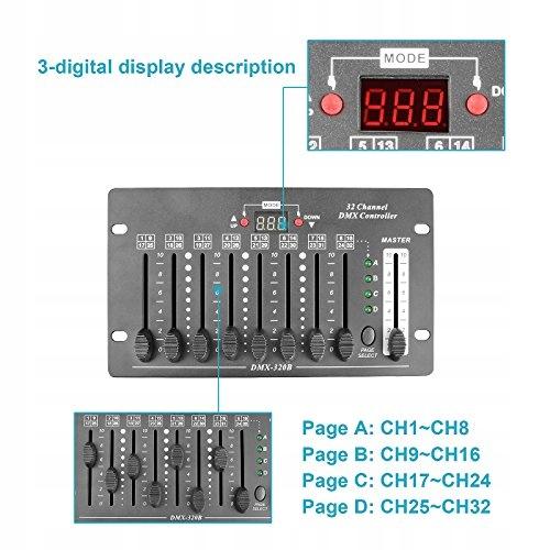 32-kanałowy kontroler DMX, TSSS Mini do świateł