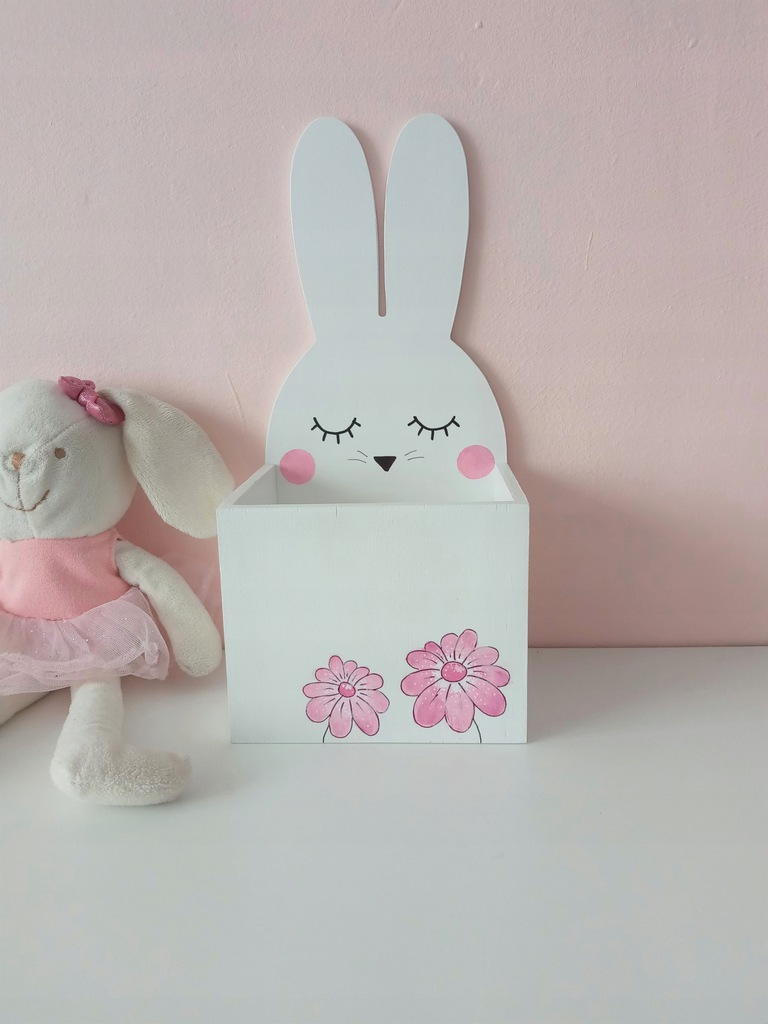 Pojemnik na kredki - króliczek