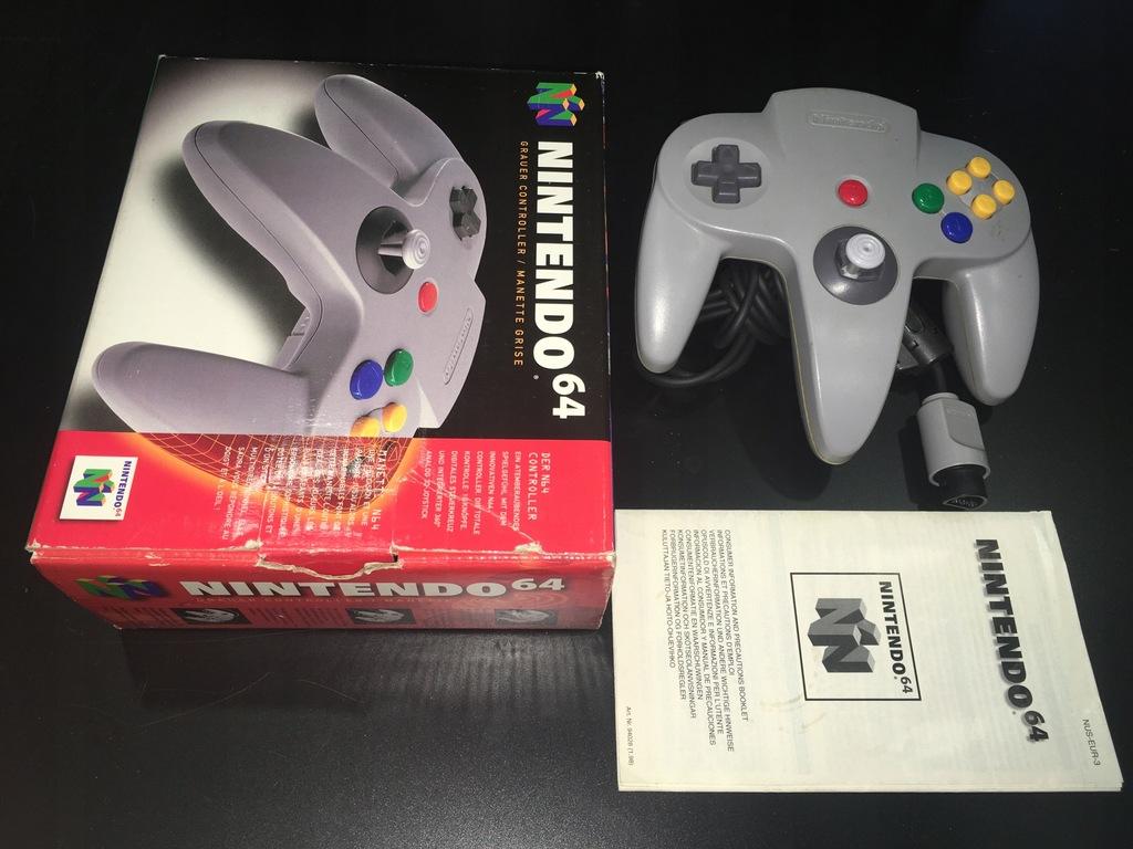 Kontroler / Pad / Szary / Nintendo 64 / N64