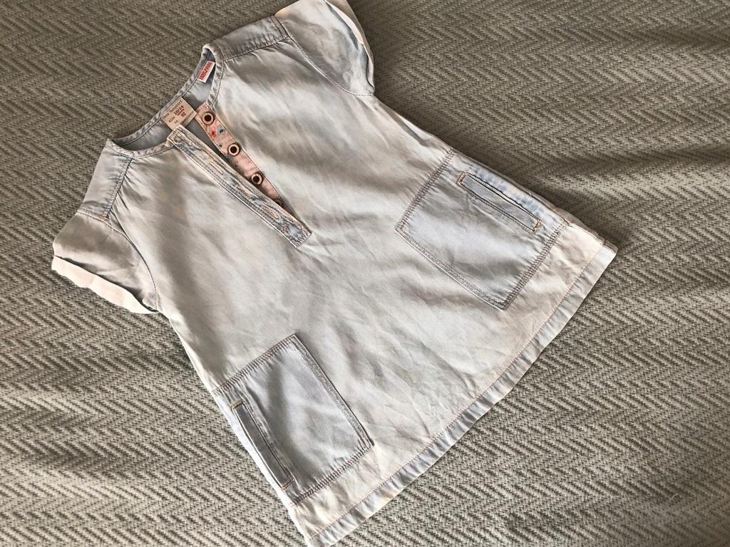 Sukienka zara jeansowa jeans 92 18-24m modna