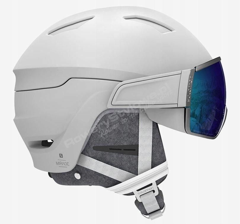 Kask narciarski Salomon Mirage+ White/Blue Solar M