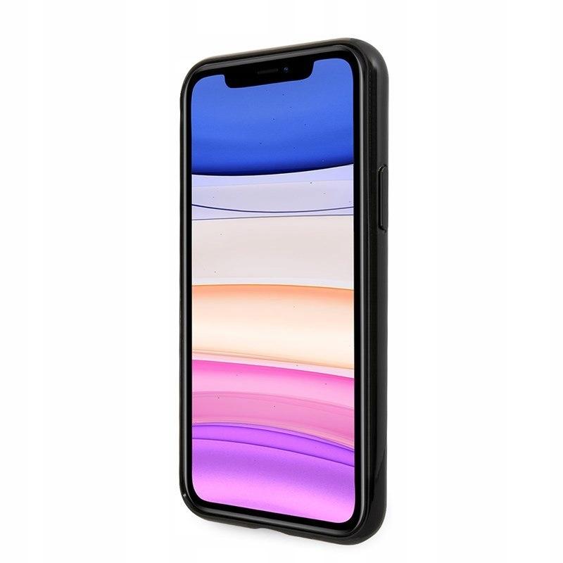 Guess Circle Glitter 4G - Etui iPhone 11 (czarny)