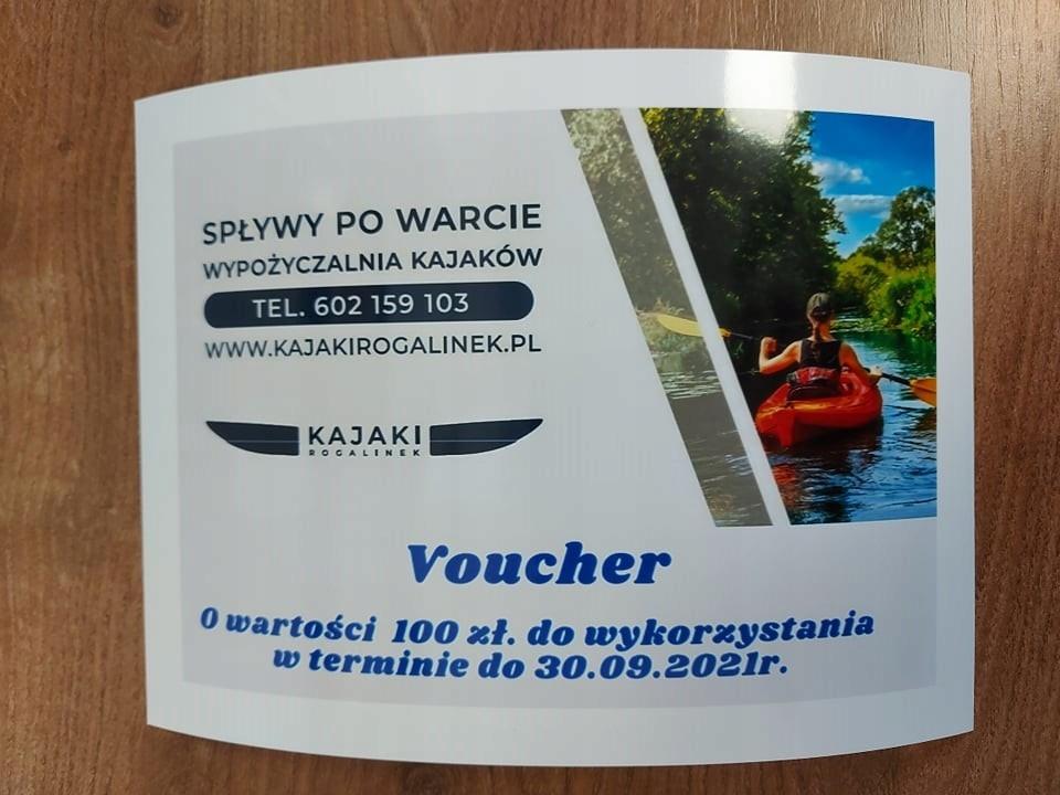 Voucher Kajaki 02- WOŚP Mosina