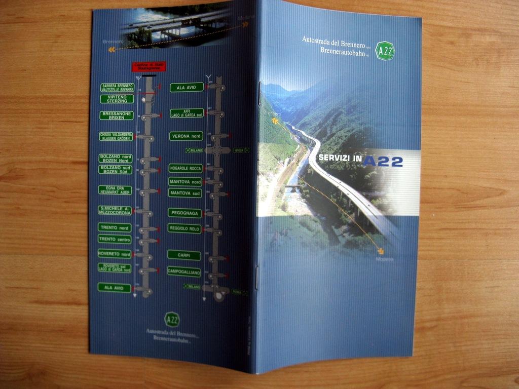 Informator Włochy autostrada A22 Alpy Brenner 2003