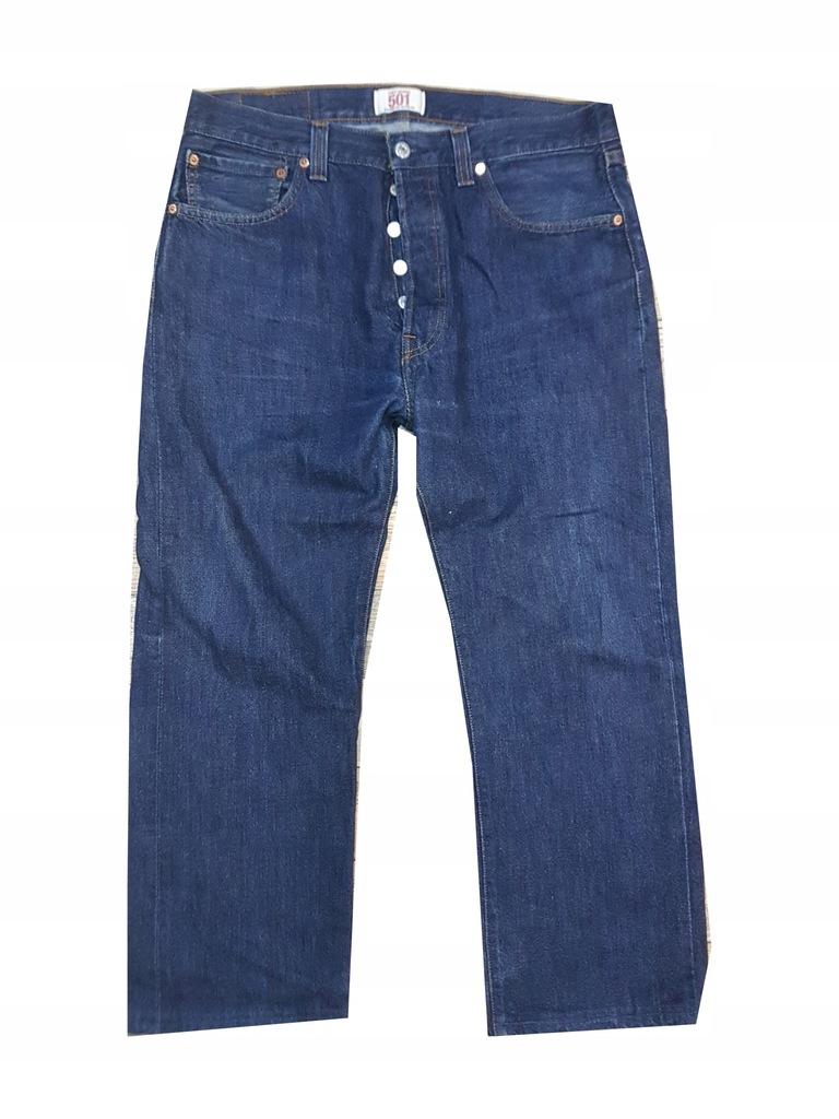 LEVI'S LEVIS 501 Spodnie Jeansy 34/28 Pas 88 cm