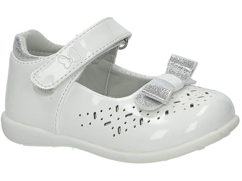 białe buty sportowe na rzep casu 106