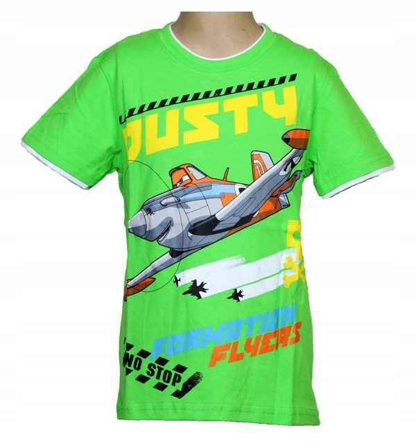 Super koszulka Planes Samoloty 116 cm ZIELONA