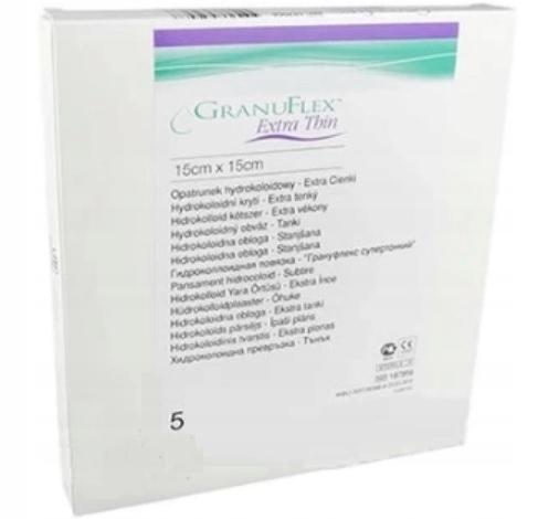 GRANUFLEX Extra Thin opatrunki 15 cm x 15 cm 5szt.