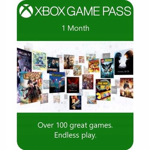 Subskrypcja Xbox Game Pass 1 MIESIĄC XBOX ONE S X