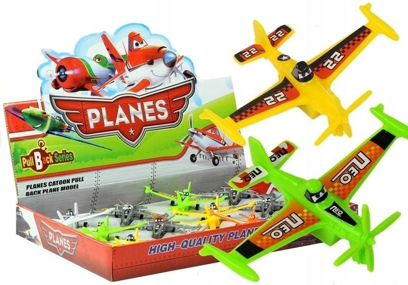 Samoloty Planes z Bajki Mix Wzorów Napęd Pull Back