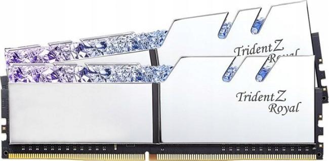 GSKILL Trident Z Royal Srebrna 16GB 2x8GB 3200MHz