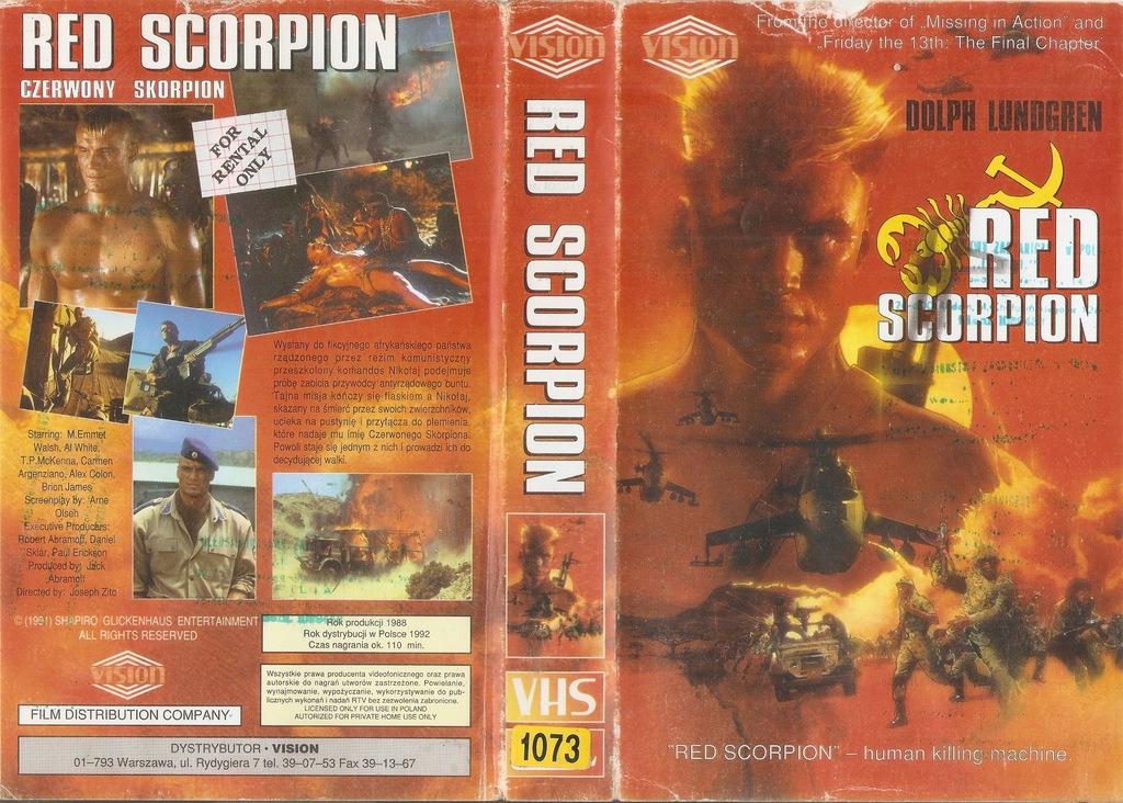 Czerwony skorpion - VHS
