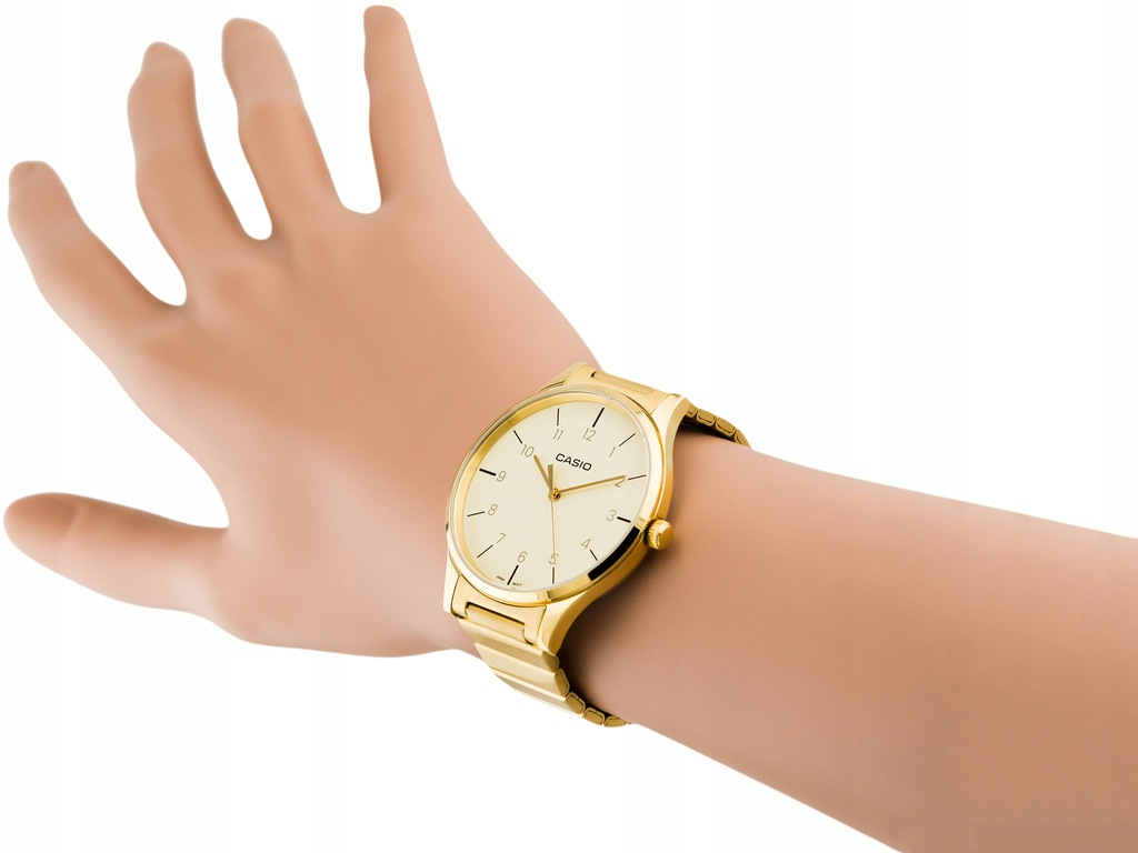 damski zegarek casio ltp-e140gg 9b złoty retro