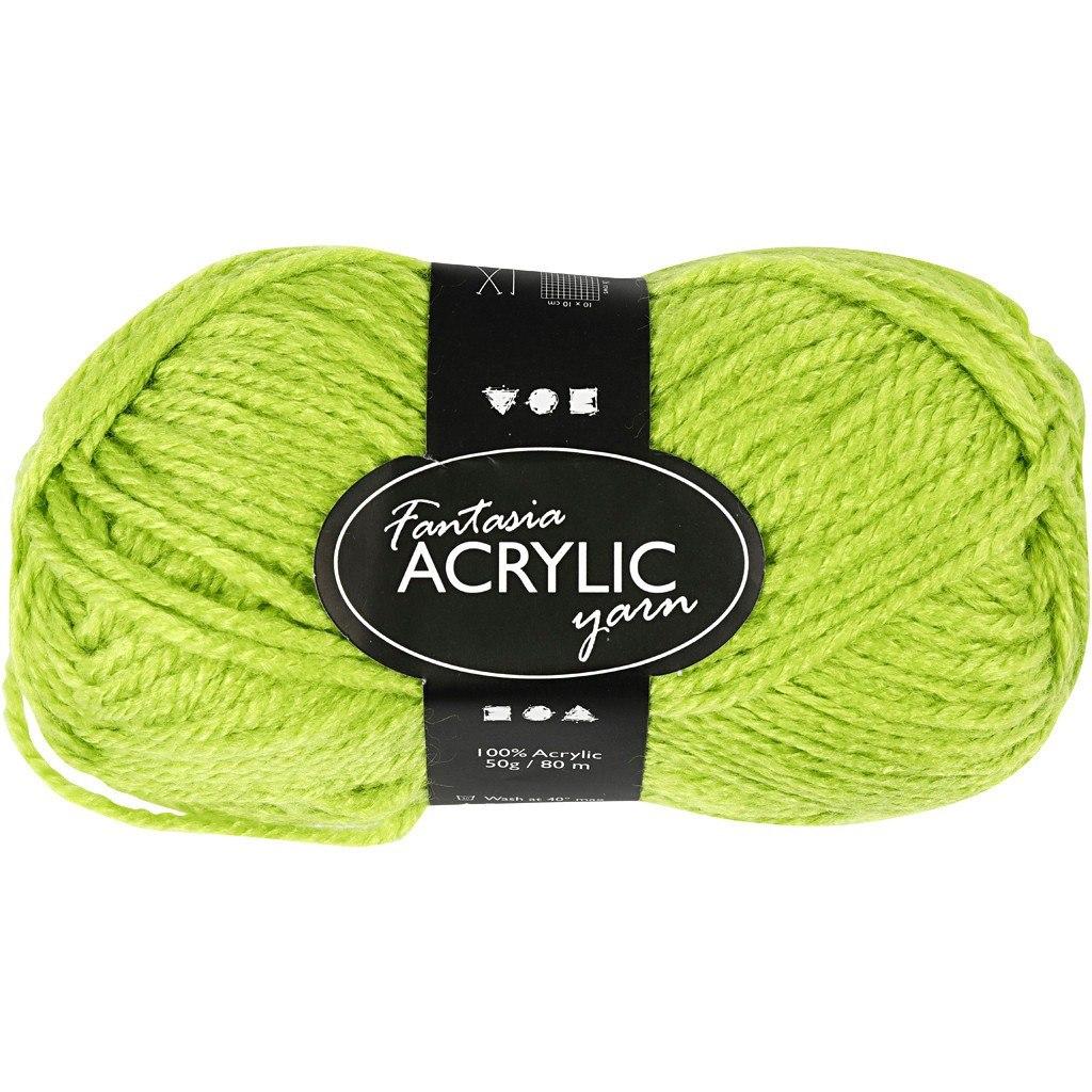 Włóczka akryl Fantasia Zielona 50 g