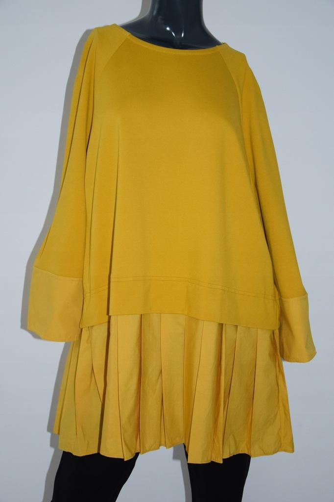 cos żółta kontrastowa bluzka wiskoza 40/L